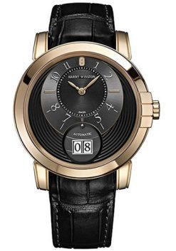 Harry Winston Midnight Big Date 18K Rose Gold Men's Watch preowned-450/MABD42RL.K-(MIDABD42RR002)