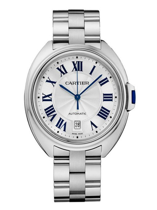 Cartier Clé De Cartier 18K White Gold Men's Watch, preowned-WGCL0006