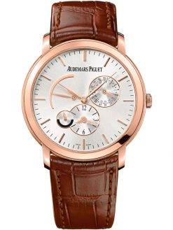 Audemars Piguet Jules Audemars Dual Time 18K Rose Gold Men's Watch preowned.26380OR.OO.D088CR.01