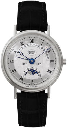 Breguet Classique Perpetual Calendar 18K White Gold Men's Watch preowned.3787bb/1e/986