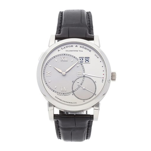 A. Lange & Sohne Grand Lange 1 Platinum 41.9mm Mens Watch, Preowned.115.026