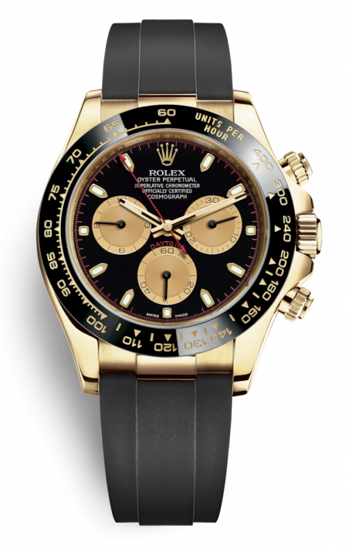 Rolex Oyster Perpetual Cosmograph Daytona 18K Yellow Gold Men's Watch, 116518LNb
