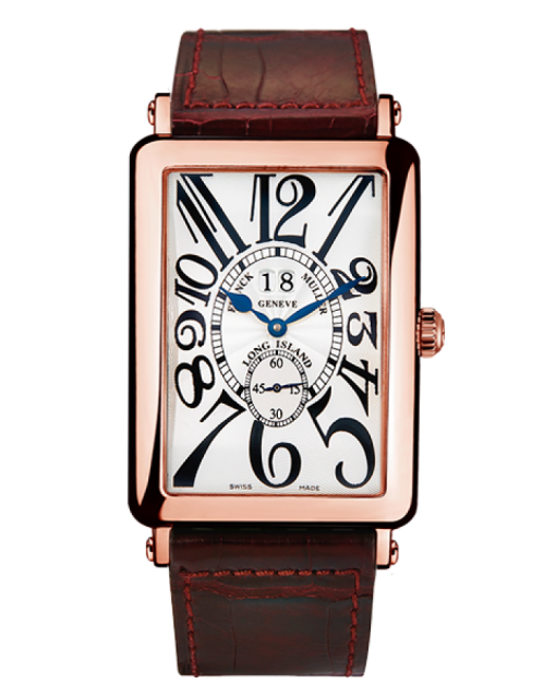 Franck Muller Long Island Big Date 18K Rose Gold Watch, Preowned-1200-S6-GG