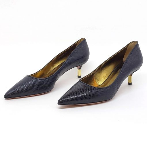 Testoni Black Lizard Lady's Pumps, 98LIZPVV 3
