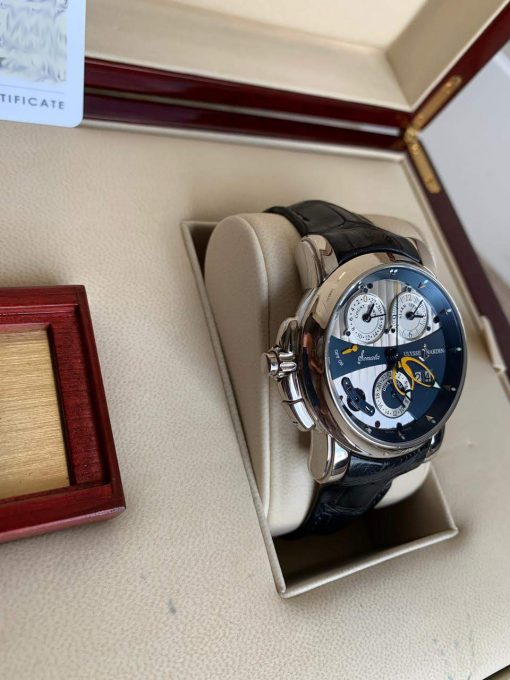 Ulysse Nardin Sonata Cathedral Dual Time White Gold Watch, Pre-owned.670-88-213 9