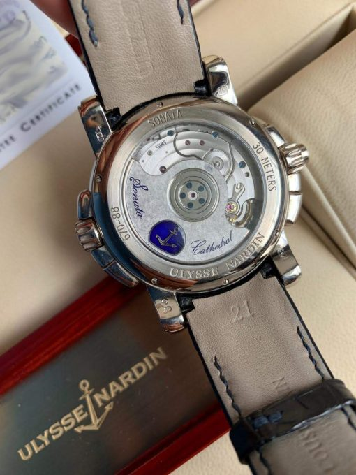 Ulysse Nardin Sonata Cathedral Dual Time White Gold Watch, Pre-owned.670-88-213 6