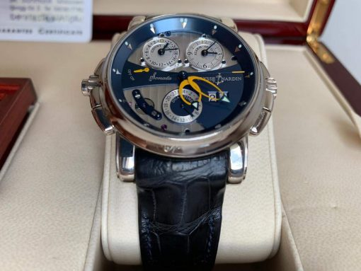 Ulysse Nardin Sonata Cathedral Dual Time White Gold Watch, Pre-owned.670-88-213 3