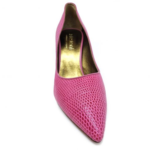 Testoni Pink Lizard Leather Lady's Pumps, 98LIZQZZ 7