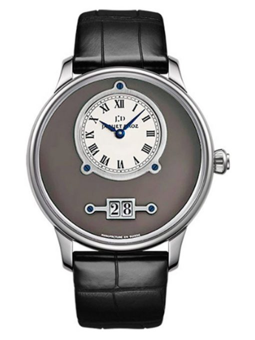 Jaquet Droz Grande Date 18k White Gold Men's Watch, preowned.J016934201