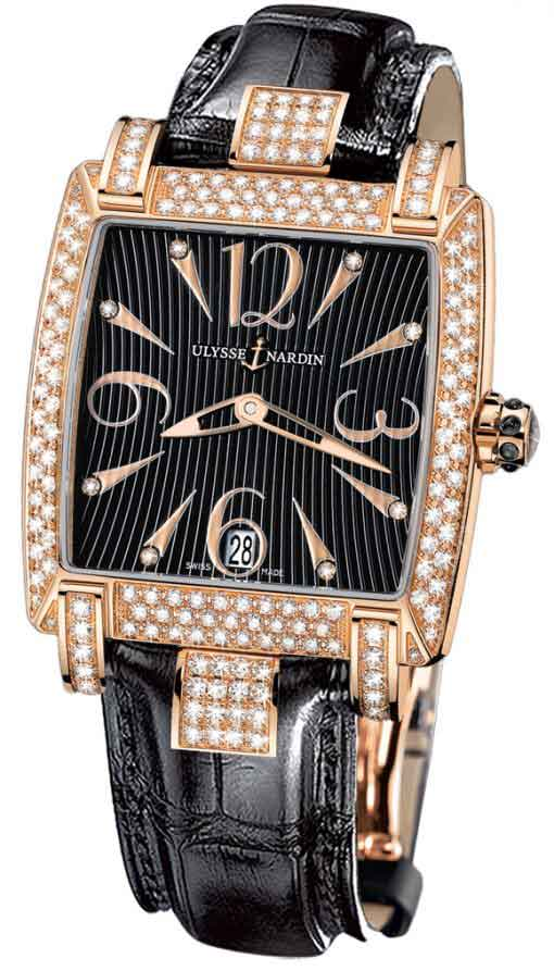 Ulysse Nardin Caprice 18K Rose Gold & Diamonds Ladies Watch, Preowned.136-91ac/06-02