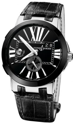 Ulysse Nardin Executive Dual Time Stainless Steel & Ceramic Men's Watch Preowned 243-00/42-1
