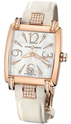 Ulysse Nardin Caprice 18K Rose Gold & Diamonds Ladies Watch Preowned.136-91c/691