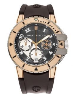 Harry Winston Project Z2 Sport Ocean 18K Rose Gold & Zalium Men's Watch preowned.OCEACH44RZ001