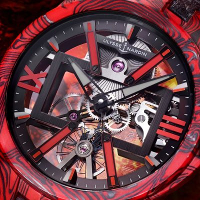 Skeleton X Magma Watch by Ulysse Nardin Fuses Carbon and Epoxy To Striking Effect