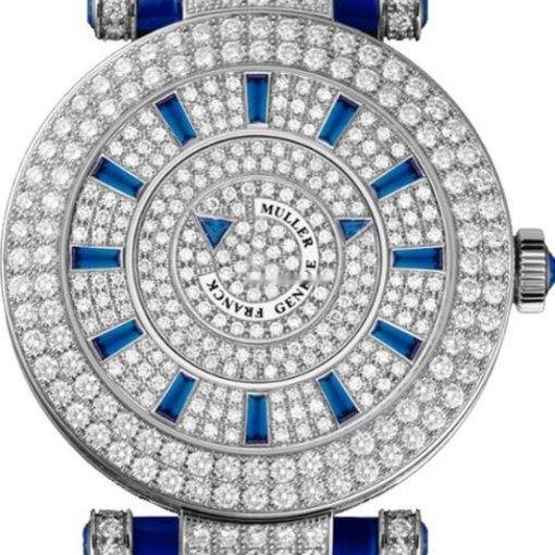 Franck Muller Double Mystery Ronde 18K White Gold Diamonds Ladies Watch, Pre-owned.42DMD2RCDF