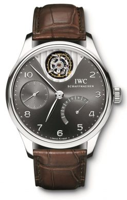 IWC Portuguese Tourbillon Mystère Limited Edition 18K White Gold Men's Watch Preowned-IW5042-07