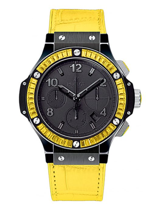 Hublot Big Bang Tutti Frutti Ceramic & Yellow Sapphires Ladies Watch, Preowned.341.CY.1110.LR.1911