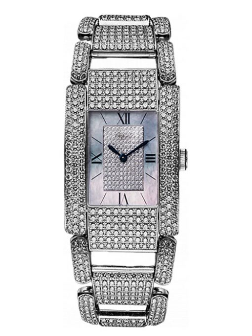 Chopard La Strada 18K White Gold & Diamond Ladies Watch, Preowned.41/7067/8