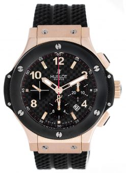 Hublot Big Bang 18K Rose Gold Chronograph Ceramic Men's Watch preowned.301.PB.131.RX