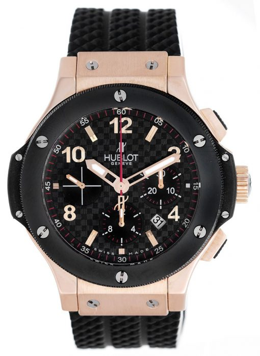Hublot Big Bang 18K Rose Gold Chronograph Ceramic Men's Watch, preowned.301.PB.131.RX