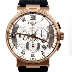 Brequet Marine 5517 Chronograph 18K Rose Gold Men's Watch 5527BR/12/5WV