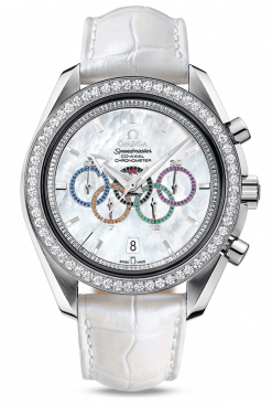 Omega Olympic Games 18K White Gold & Diamonds 321.58.44.52.55.001