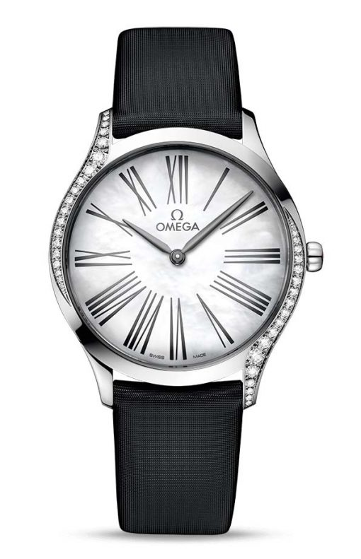 Omega De Vile Trésor Stainless Steel & Diamonds, 428.17.36.60.05.001