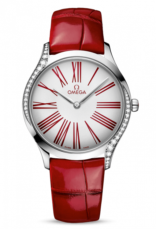 Omega De Vile Trésor Stainless Steel & Diamonds, 428.18.36.60.04.002