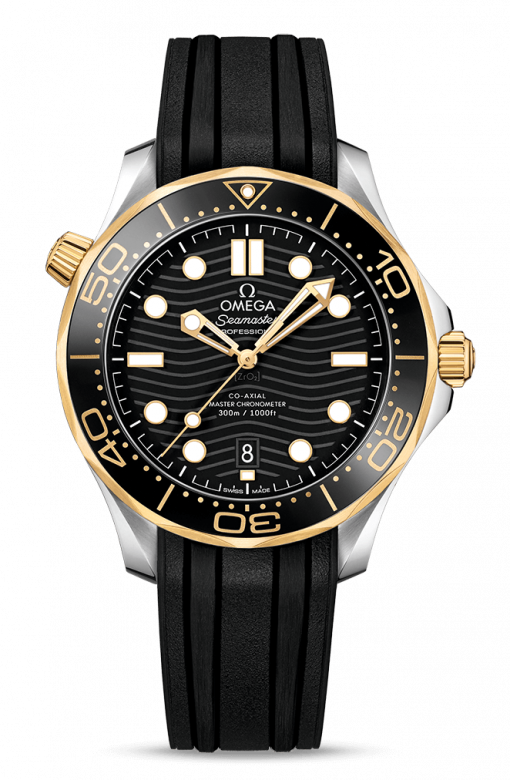 Omega Seamaster 300 Master Co-Axial Stainless Steel & 18K Yellow Gold, 210.22.42.20.01.001