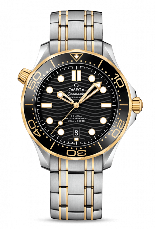 Omega Seamaster 300 Master Co-Axial Stainless Steel & 18K Yellow Gold, 210.20.42.20.01.002