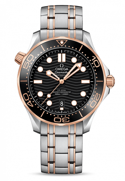 Omega Seamaster 300 Master Co-Axial Stainless Steel & 18K Sedna Gold, 210.20.42.20.01.001