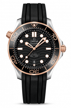 Omega Seamaster 300 Master Co-Axial Stainless Steel & 18K Sedna Gold 210.22.42.20.01.002