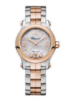 Chopard Happy Sport 18K Rose Gold & Stainless Steel & Diamonds 278573-6019