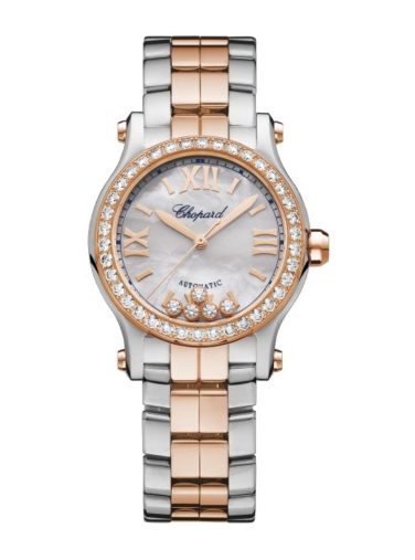 Chopard Happy Sport 18K Rose Gold & Stainless Steel & Diamonds, 278573-6021