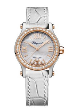 Chopard Happy Sport 18K Rose Gold & Stainless Steel & Diamonds 278573-6020