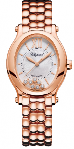 Chopard Happy Sport 18K Rose Gold & Diamonds 275362-5004