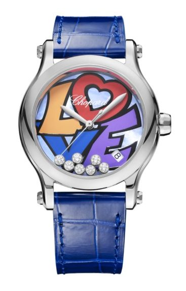 Chopard Happy Love Stainless Steel & Diamonds, 278559-3020