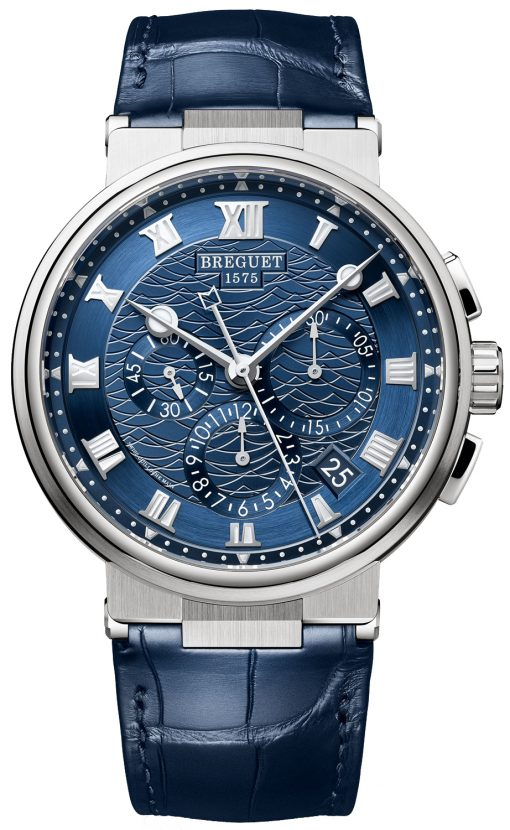 Brequet Marine 5517 Chronograph 18K White Gold Men's Watch, 5527BB/Y2/9WV