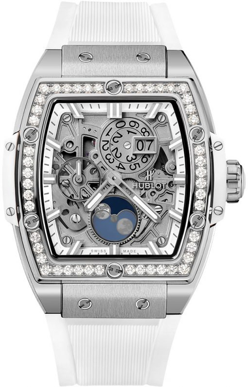 Hublot Spirit of Big Bang 42mm Titanium White Diamond Watch, preowned.647.NE.2070.RW.1204