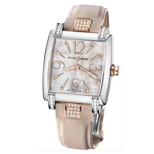 Ulysse Nardin Caprice Rose Gold and Steel Diamond Ladies Watch, 133-91C/695-INDIA