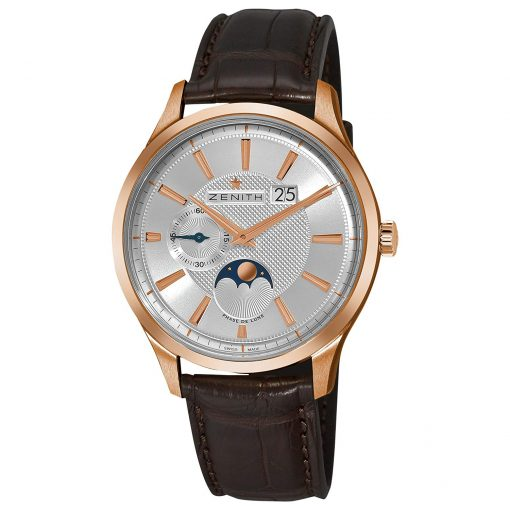 Zenith Captain Moonphase 18K Rose Gold Men's Watch, preowned.18.2140.691