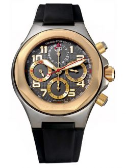 Girard Perregaux Laureato Chronograph 18K Rose Gold & Titanium Men's Watch preowned.80180-26-212-FK6A