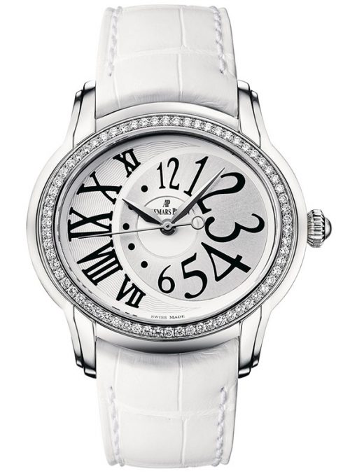 Audemars Piguet Millenary Stainless Steel & Diamonds Ladies Watch, preowned.77301ST.ZZ.D015CR.01