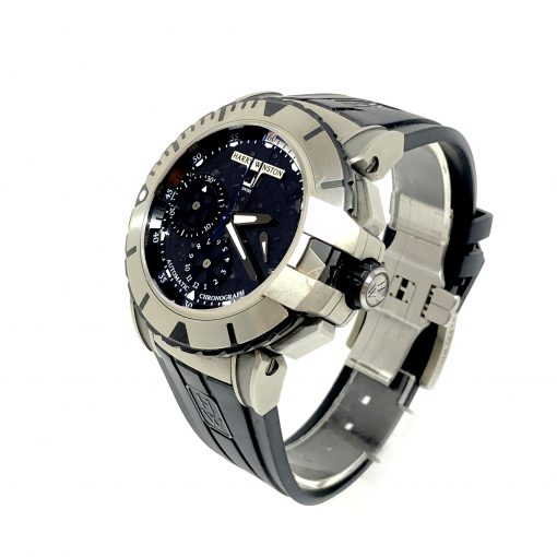 Harry Winston Ocean Sport Chronograph Zalium Rubber Men`s Watch, Preowned-OCSACH44 2