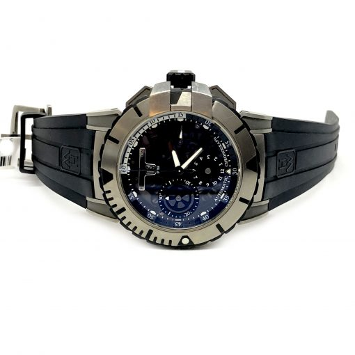 Harry Winston Ocean Sport Chronograph Zalium Rubber Men`s Watch, Preowned-OCSACH44 5