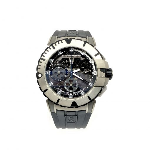 Harry Winston Ocean Sport Chronograph Zalium Rubber Men`s Watch, Preowned-OCSACH44