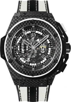 Hublot King Power Juventus Mechanical Limited Edition Carbon & Ceramic Men's Watch preowned.716.QX.1121.VR.JUV13
