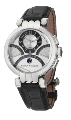 Harry Winston Premier Excenter Biretrograde 18K White Gold Men's Watch preowned.200-MCRA39W