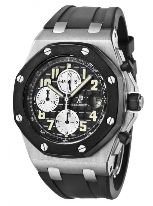 Audemars Piguet Royal Oak Offshore Chronograph Stainless Steel & Ceramic Men's Watch, preowned.25940SK.OO.D002CA.01.A