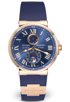 Ulysse Nardin Maxi Marine Diver Chronograph Dial 18K Rose Gold Men's Watch Preowned-8006-102-3A/91
